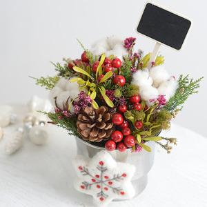 크리스마스화기(드라이플라워)
