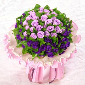 [향기나는비누꽃]보라색솜사탕