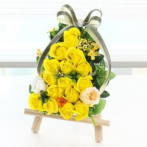 bj2202 쁘띠이젤(옐로우) 비누꽃